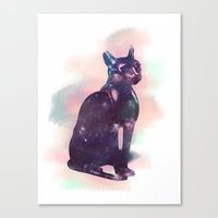 egyptian Canvas Prints featuring Egyptian cat  by Vita♥G