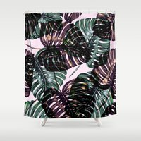 leaf Shower Curtains featuring Leaf by Burcu Korkmazyurek