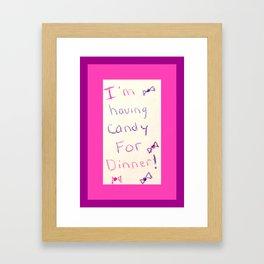 Unbreakable Kimmy Schmidt - Candy for Dinner Framed Art Print