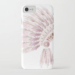 Pink Stencil headdress iPhone Case