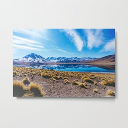 Laguna Miñiques, San Pedro de Atacama Desert, Chile Metal Print