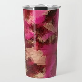 pink purple and black painting texture abstract background Travel Mug