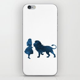 Lion and girl iPhone Skin