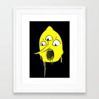 lemongrab Framed Art Prints featuring TEENS ON ACID x LEMONGRAB by Teens On Acid