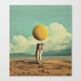 Lone Poker-Face Canvas Print