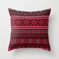 "greek Throw Pillows featuring GREEK pattern by ""CVogiatzi."