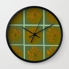 Taking Flight - Olive Orange Yellow & Black Palette Wall Clock