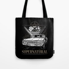 Supernatural Impala Black Tote Bag