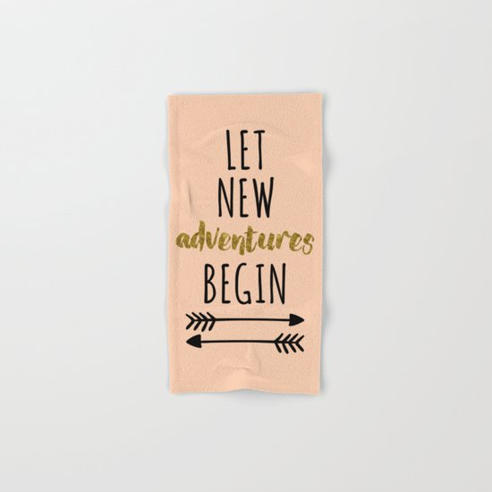 New Adventures Quote Hand & Bath Towel