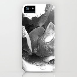 Morning Rose - greyscale version iPhone Case