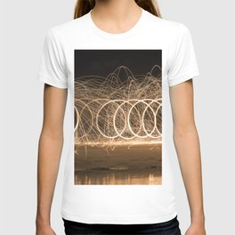 Wool spinning at the beach T-shirt
