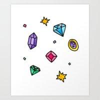 gem Art Prints featuring Gem by Madi Moon