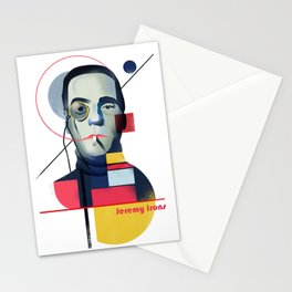 Famous people in a bauhaus style - Jerony Irons Stationery Cards