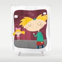 arnold Shower Curtains featuring Arnold by Maria Jose Da Luz