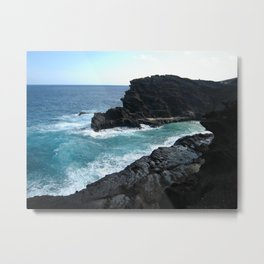 HALONA BLOWHOLE & BEACH COVE Metal Print