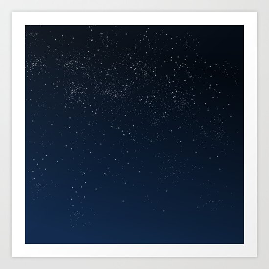 Stars in Space Art Print