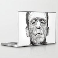 frankenstein Laptop & iPad Skins featuring Frankenstein by calibos