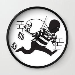 Dropping Gems Wall Clock