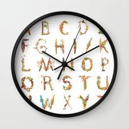 West African Alphabet Wall Clock