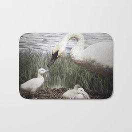 Tom Feiler Swan and her Cygnets Bath Mat