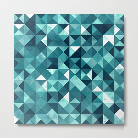 Lovely Geometric Background IV Metal Print