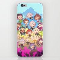 dangan ronpa iPhone & iPod Skins featuring Dangan Island by CO27