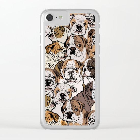 Social English Bulldog Clear iPhone Case