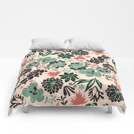 Succulent flowerbed Comforters