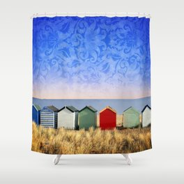 Beach Huts at Southwold (Suffolk/Great Britain) Shower Curtain
