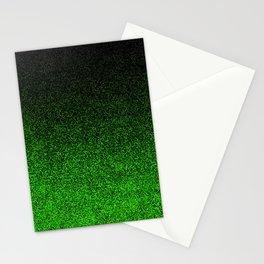 Green & Black Glitter Gradient Stationery Cards