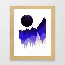 Glitter mountains Framed Art Print