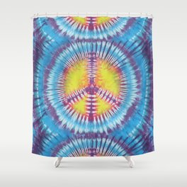 Peace Tie Dye Shower Curtain