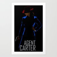 agent carter Art Prints featuring Agent Carter by offbeatzombie