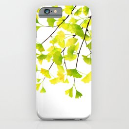 Ginkgo Branches Watercolor  iPhone Case