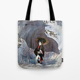 Out of the Cave, Into the Storm, the Hero Prepares for the Next Battle Tote Bag