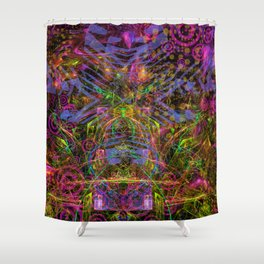 Florid Bedazzlement (abstract) Shower Curtain