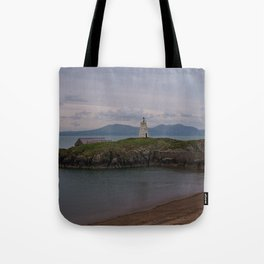 View Towards Twr Bach Lighthouse Tote Bag