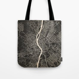 budapest map ink lines Tote Bag