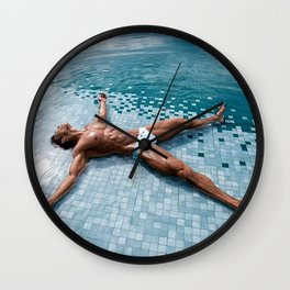 Wet Spread Wall Clock
