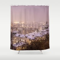 prague Shower Curtains featuring Prague 3 by Veronika