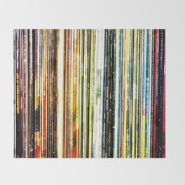 a rainbow of records! Throw Blanket