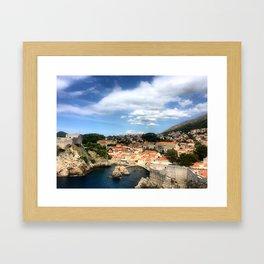 The Old City of Dobrovnik, Croatia Framed Art Print
