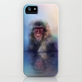 Macaque (Low Poly Multi I Snow Monkey) iPhone Case