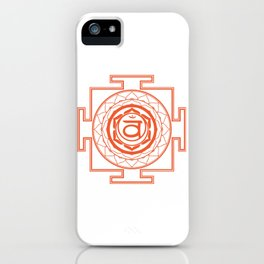 Sri Yantra Sacral Chakra iPhone Case