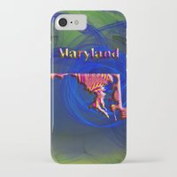 maryland iPhone & iPod Cases featuring Maryland Map by Roger Wedegis