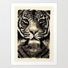 Tiger Ink Art Print