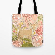 Garden Deer Tote Bag