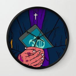 Mobible Priest Wall Clock
