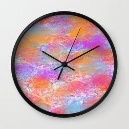 happy swirls Wall Clock