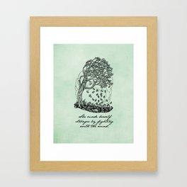 The Secret Garden - She Made Herself Stronger Framed Art Print